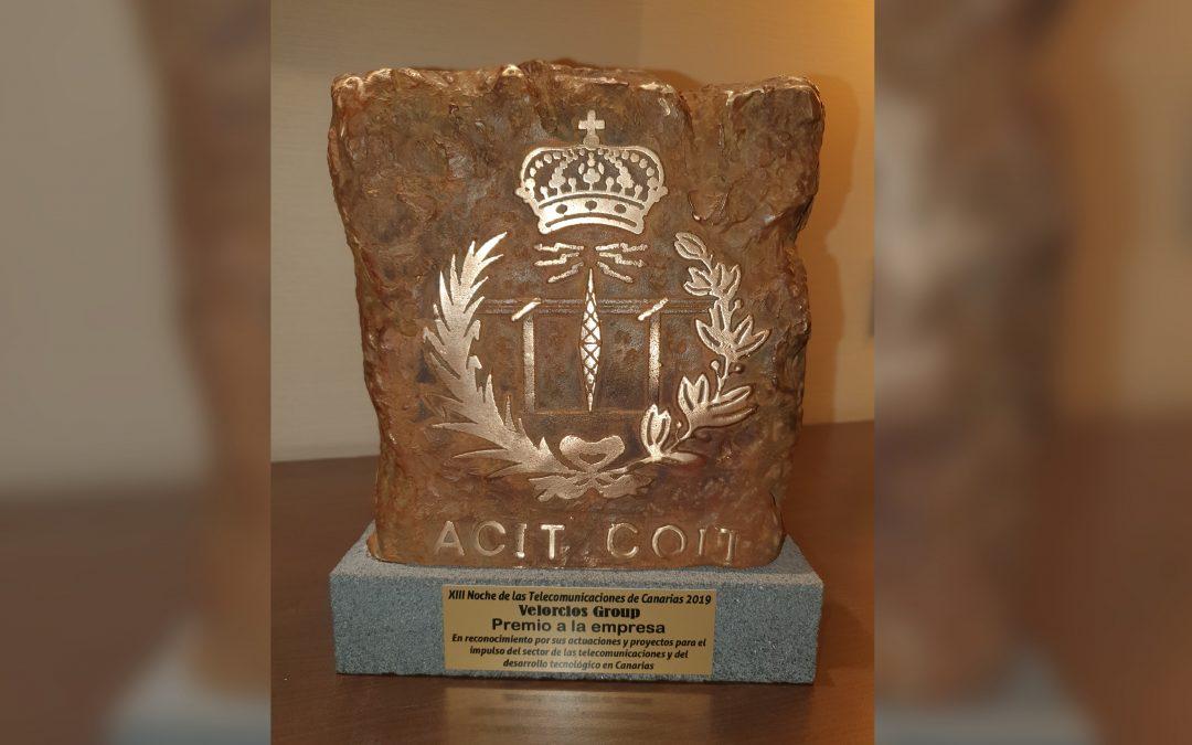 Velorcios Group, Premio a mejor empresa en la Noche de las Telecomunicaciones de Canarias